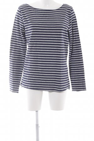 Esprit Oversized Sweater light grey-dark blue striped pattern casual look