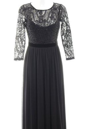 Esprit Pailettenkleid schwarz Zopfmuster Elegant