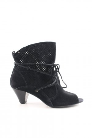 Esprit Peeptoe-Stiefeletten schwarz Elegant