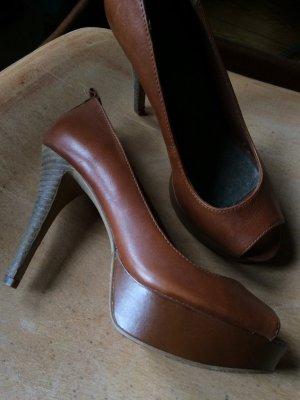 Edc Esprit Tacones con punta abierta marrón Cuero