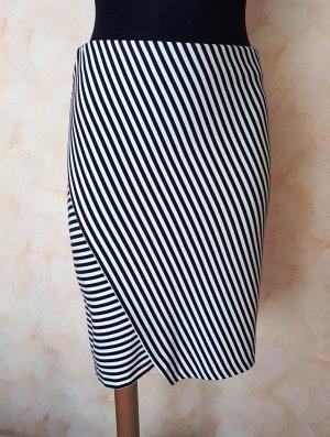 Esprit Jupe asymétrique noir-blanc