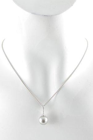 Esprit Collar de perlas color plata-gris pizarra elegante