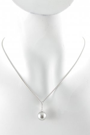 Esprit Perlenkette silberfarben-graublau Elegant
