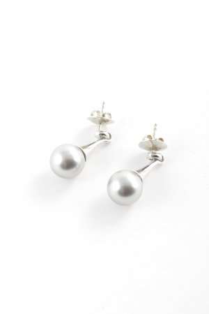 Esprit Pearl Earring silver-colored-slate-gray elegant