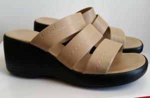 Edc Esprit Heel Pantolettes sand brown-black
