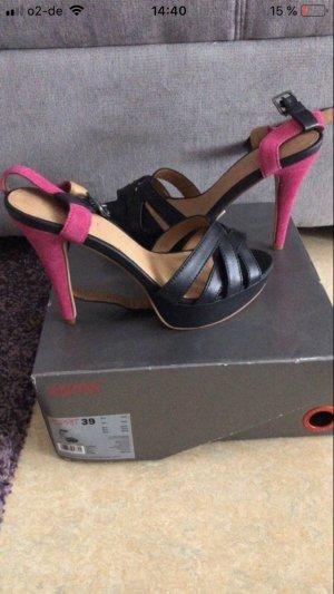 Esprit Platform High-Heeled Sandal black-pink