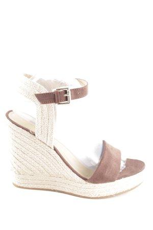Esprit Plateau-Sandaletten creme-bronzefarben Casual-Look