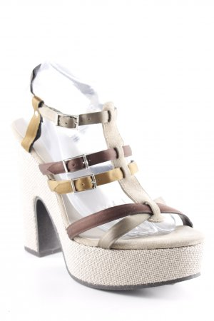 Esprit Platform High-Heeled Sandal oatmeal-light brown casual look