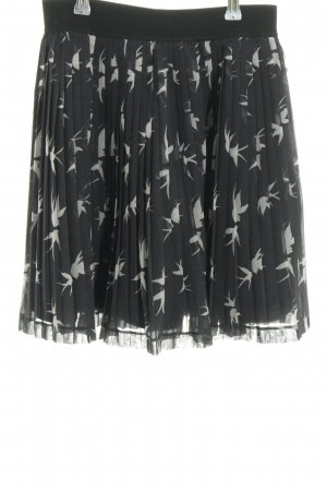 Esprit Pleated Skirt black-natural white allover print casual look