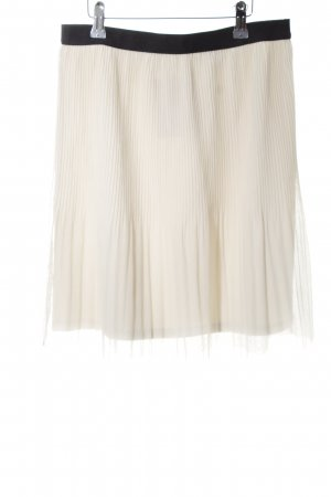 Esprit Pleated Skirt natural white-black casual look