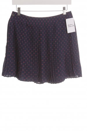 Esprit Pleated Skirt dark blue-raspberry-red abstract pattern beach look