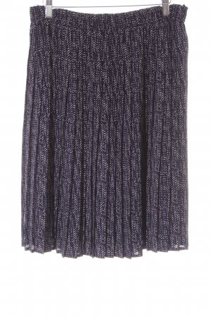 Esprit Pleated Skirt dark blue-white elegant