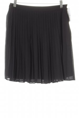 Esprit Geplooide rok zwart elegant