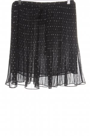 Esprit Pleated Skirt black-white spot pattern casual look