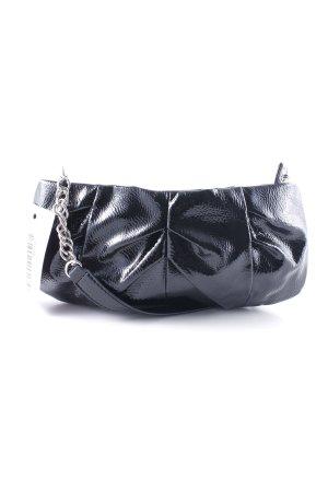 Esprit Bolso tipo pochette negro look efecto mojado