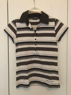 Esprit Sports Polo Shirt white-dark brown