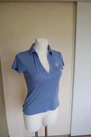 Esprit Camiseta tipo polo azul celeste Algodón