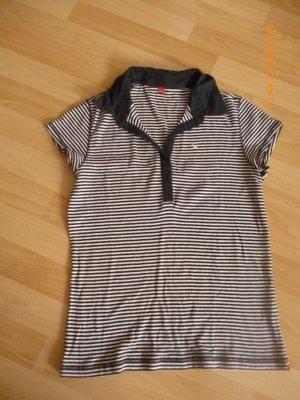 ESPRIT POLO- Shirt gr M schwarz-weiß gestreift Top Zustand,wie neu