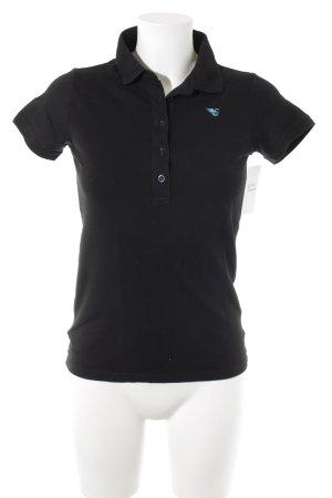 Esprit Polo-Shirt schwarz-türkis schlichter Stil