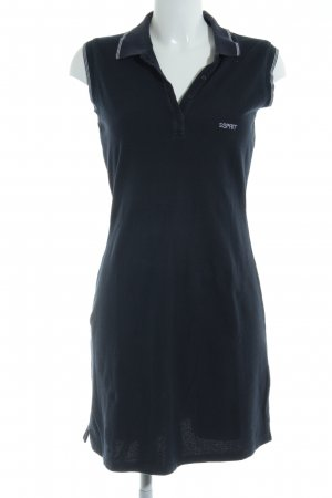 Esprit Polo Dress dark blue-white athletic style