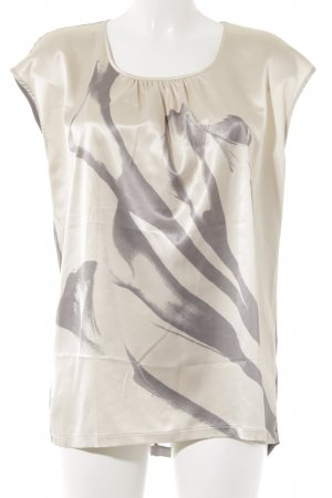 Esprit Print-Shirt creme-grau Motivdruck Casual-Look