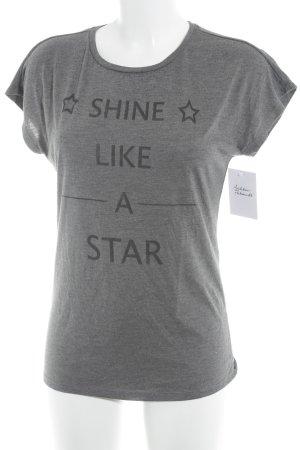 Esprit Print-Shirt grau meliert Casual-Look