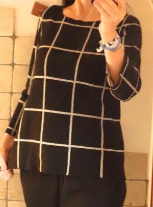Esprit Gebreide trui zwart-wit Viscose