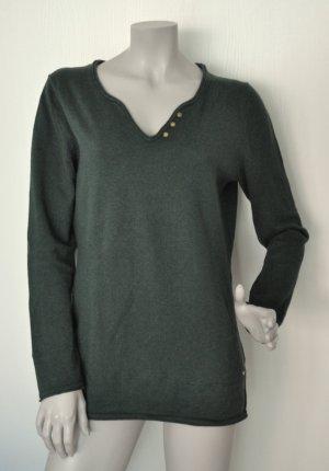 Esprit Pullover Baumwolle Wolle tannengrün Gr. L