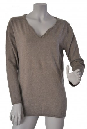 Esprit Pullover Baumwolle Wolle taupe Gr. L