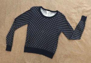 Esprit Kraagloze sweater blauw-wit