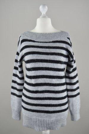 Esprit Pullover gestreift gestrickt grau Größe M