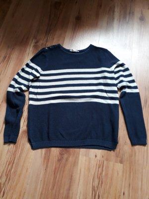 Esprit Crewneck Sweater white-dark blue