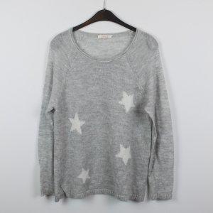 ESPRIT Pullover Gr. XL grau Sterne (18/11/391)