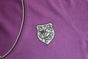 Esprit Jersey con cuello de pico violeta Algodón