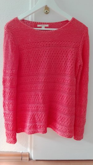 Esprit Pullover lachs pink rot Lochmuster XS 34