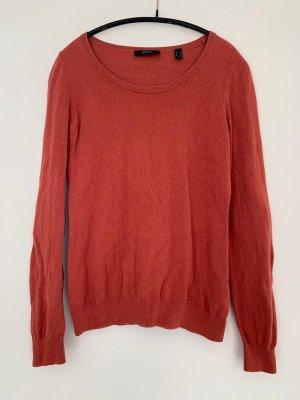 Esprit Kraagloze sweater roodbruin-donker oranje