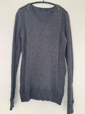 Esprit Pullover mit raffiniertem Reisverschluss in grau