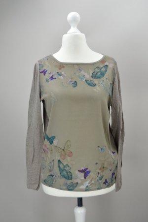 Esprit Pullover mit Schmetterlingen braun Größe S