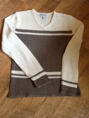 Esprit V-Neck Sweater white-grey brown