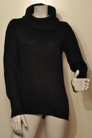 Esprit Pullover mit weitem Rollkragen mit Kaschmir schwarz Gr. L
