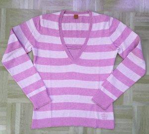 Esprit V-halstrui roze-lichtroze Katoen