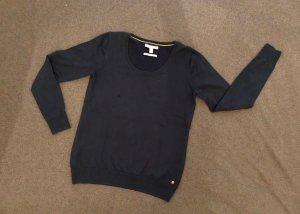 Esprit Kraagloze sweater staalblauw