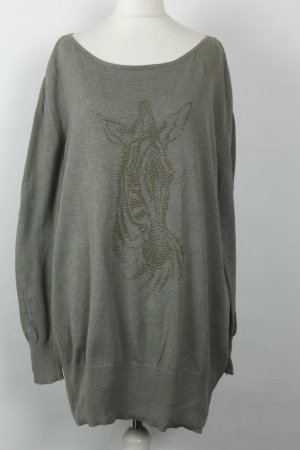 Esprit Pullover Strickpullover Longpullover Gr. M grau oversized Zebra