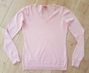 Esprit Pullover Sweatshirt V-Ausschnitt Rosa Business Shirt Basic Sportlich Tennis XS 34