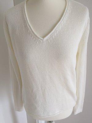 Esprit Pullover wollweiss mit Leinen Größe 38