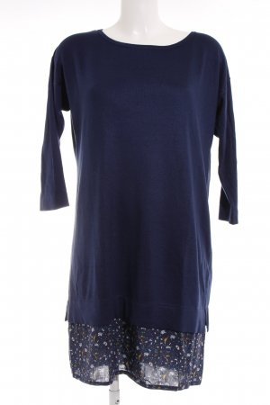 Esprit Sweater Dress dark blue abstract pattern casual look