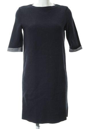 Esprit Sweater Dress dark blue-white monogram pattern casual look