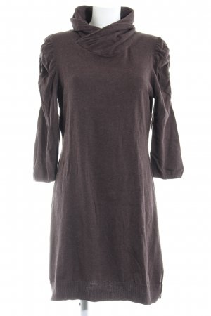 Esprit Sweater Dress dark brown flecked casual look