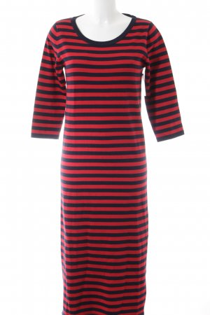 Esprit Sweater Dress red-dark blue striped pattern casual look