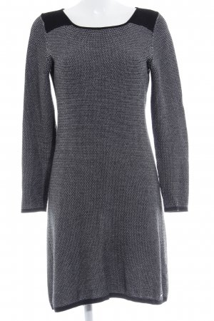 Esprit Sweater Dress black-white houndstooth pattern casual look